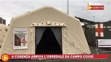 Emergenza Covid, le telecamere dell'Eco nell'ospedale da Campo militare allestito a Cosenza
