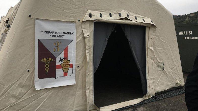 Emergenza Covid, a Cosenza l'ospedale da campo è pronto ma ancora non funziona