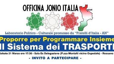 Rossano, sabato 21 il laboratorio politico di Officina Jonio Italia