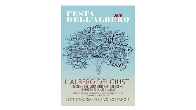 """Rossano, l'Istituto Comprensivo n° 1 inaugura """"L'albero dei Giusti"""""""
