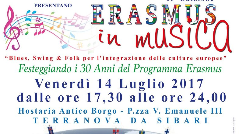 Terranova da Sibari, venerdì 14 luglio Erasmus in Musica