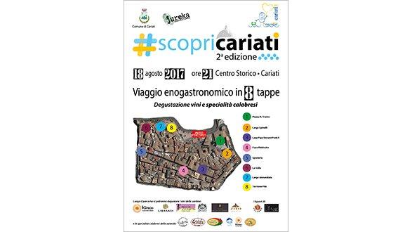 #ScopriCariati: seconda edizione del viaggio enogastronomico per le vie del centro.