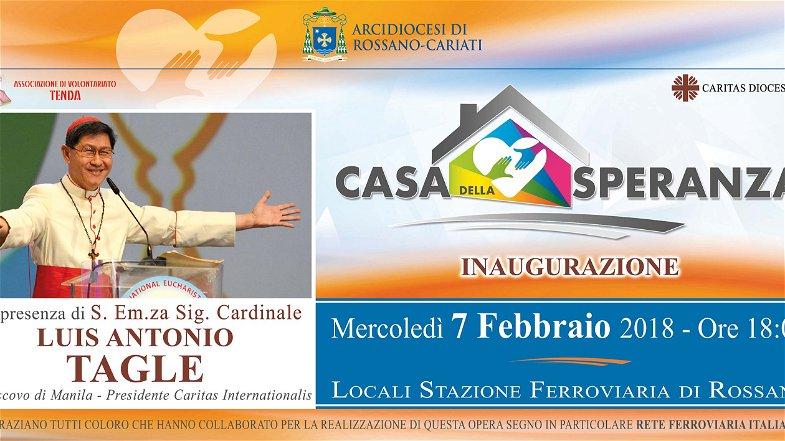 Diocesi Rossano-Cariati. il 7 febbraio inugurazione Casa della Speranza