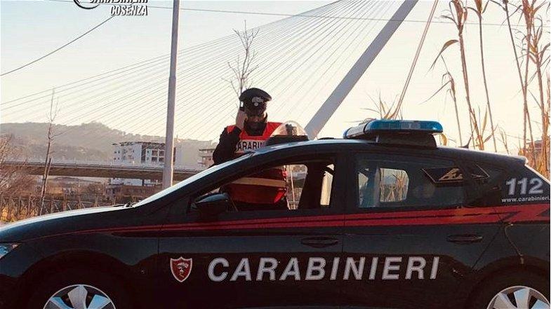 Carabinieri Cosenza:detenuto ai domiciliari, arrestato mentre spacciava droga ad un minore