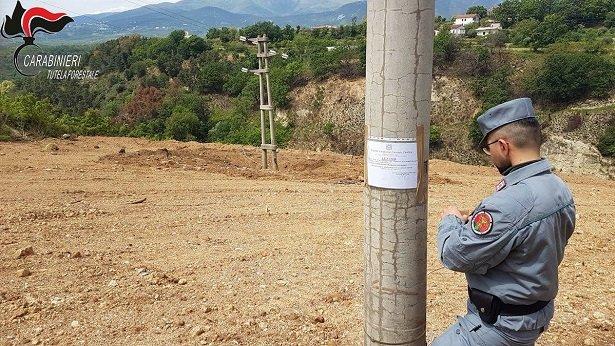 Carabinieri Forestale, sequestrato terreno a Castrovillari