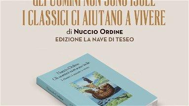 Domani martedì 27, Auditorium Amarelli, presentazione del libro di Nuccio Ordine