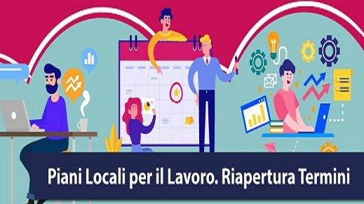 Piani Locali per il Lavoro: dal 1° settembre presentazione domande