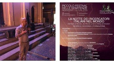 Continua il Piccolo Festival delle Spartenze: il 17 agosto la Notte dei Ricercatori a Santa Maria ad Gruttam
