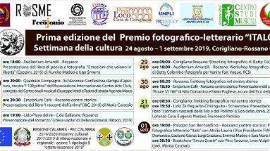 A Corigliano Rossano: la I edizione Premio internazionale Fotografico-Letterario ITALO