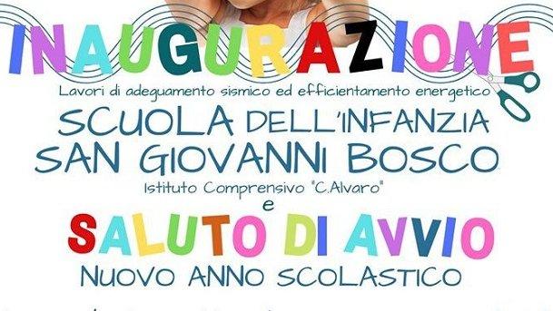 Trebisacce: domani inaugurazione scuola Don Giovanni Bosco