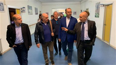 Cotticelli in visita all'ospedale di Trebisacce. Pronta la riapertura?
