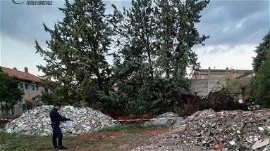 Luzzi – Sequestrati i rifiuti da demolizione provenienti dai lavori di ristrutturazione della scuola in disuso.