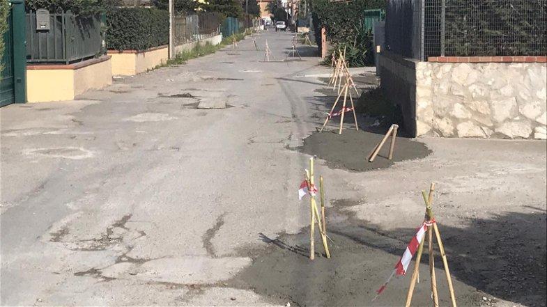 Il rifacimento stradale di contrada Giannone come una manche del SuperG