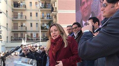 Giorgia Meloni a Corigliano-Rossano: «Questa terra deve cambiare il suo destino» | VIDEO