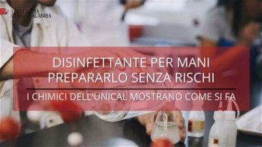 Coronavirus, i ricercatori dell'Unical mostrano come produrre in casa il disinfettante per le mani | VIDEO