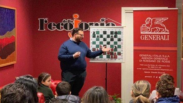 La grande scuola scacchistica di Rossano si conferma: Giovanni Spina miglior istruttore del Sud Italia