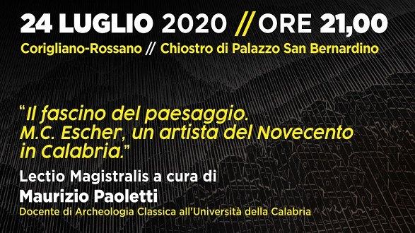 Escher a Rossano: venerdì 24 evento per 90° anniversario
