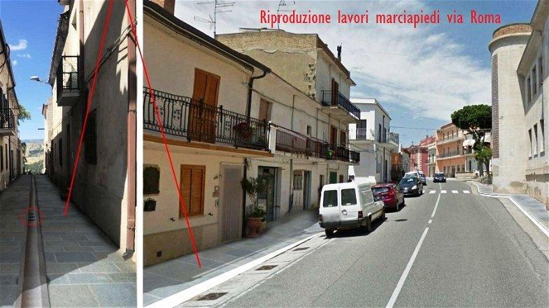 Amendolara, in via Roma presto il rifacimento dei marciapiedi