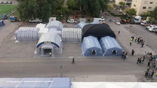 «Gli ospedali da campo una soluzione per alleggerire il carico sulle strutture sanitarie»