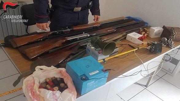 Controlli venatori a Cassano all'Ionio: denunciati tre cacciatori