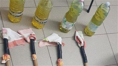 Corigliano-Rossano: rinvenute bottiglie incendiarie pronte all'uso