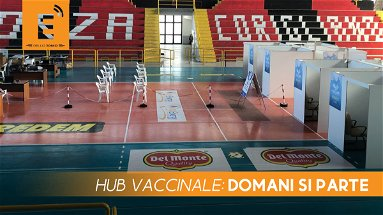 """Hub vaccinale al """"Pala Brillia"""" di Corigliano Rossano, si parte domani"""