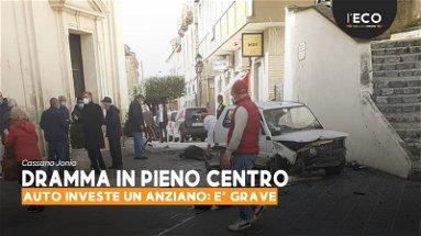 Follia a Cassano Jonio: anziana contromano in pieno centro investe un uomo: è grave