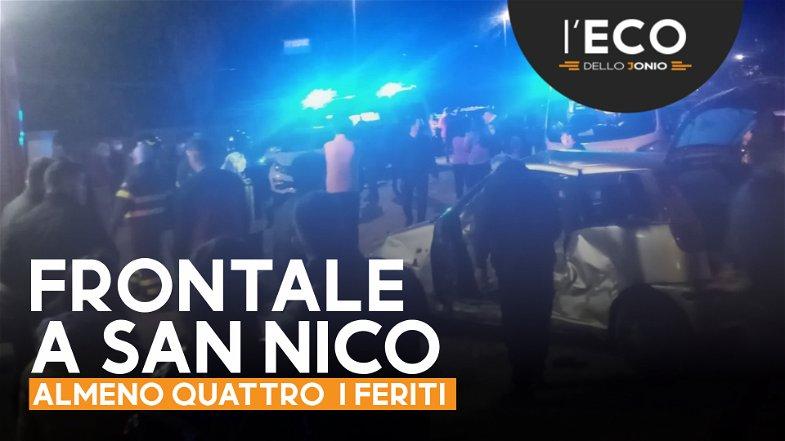 Frontale in località San Nico (Co-Ros), ci sono almeno 4 feriti