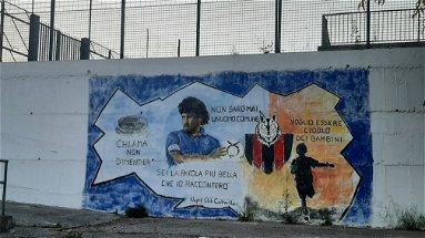 A Castrovillari lo stadio ha un murale che sa di sogno e di storia