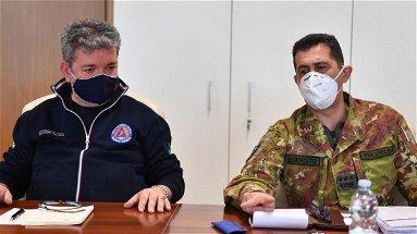 Vaccini, il presidente Spirlì apre alla «gestione condivisa» tra Esercito e Regione