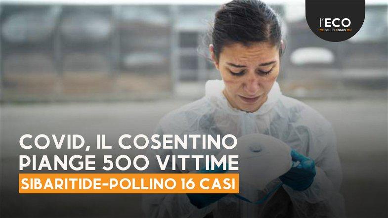 Covid, la provincia di Cosenza piange 500 vittime da inizio pandemia