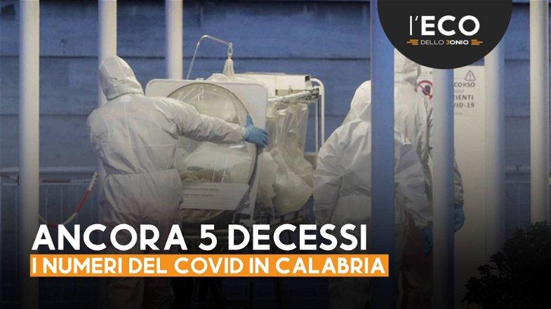 Si continua a morire di Covid: oggi in Calabria altri 5 decessi