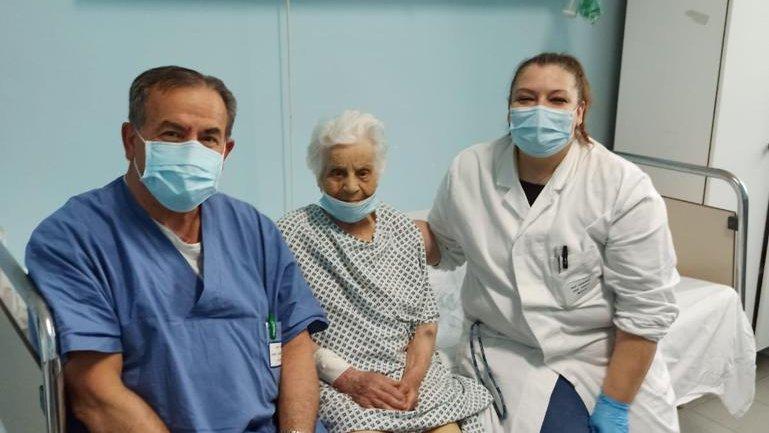 Castrovillari, ortopedia da record. Nonna di 100 anni operata al femore
