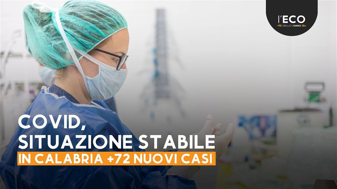 Covid, in Calabria continuano a diminuire i nuovi casi (+72) - TUTTI I NUMERI DEL CONTAGIO