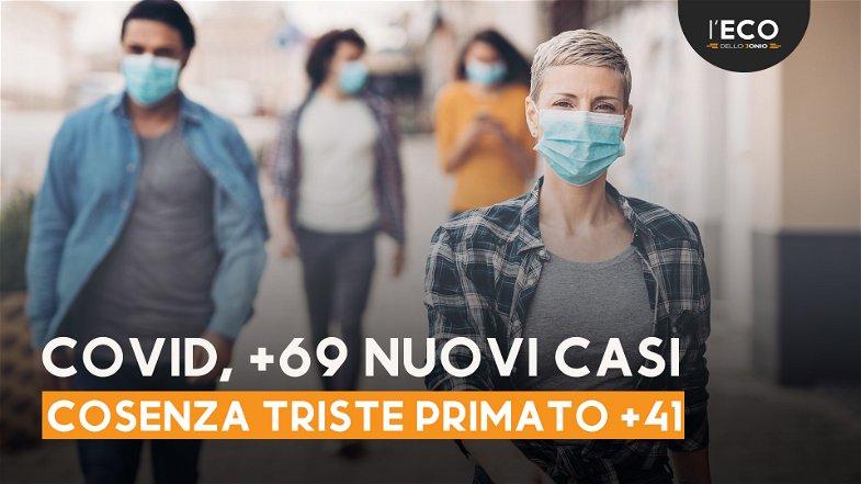 Covid, in Calabria 69 nuovi casi di cui 41 nella provincia di Cosenza - TUTTI I NUMERI DEL CONTAGIO