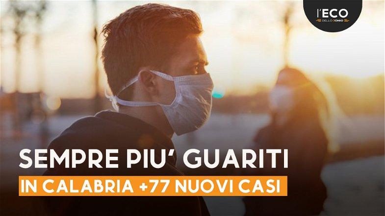 Covid, in Calabria si contano 77 nuovi positivi - TUTTI I NUMERI DEL CONTAGIO