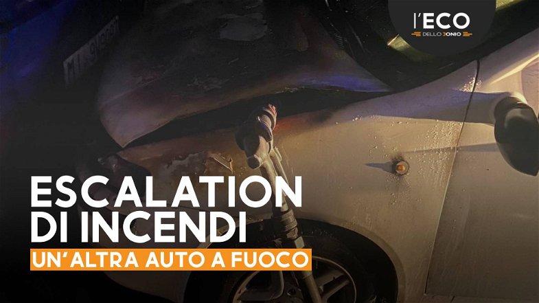 Schiavonea, a fuoco l'auto di un cittadino rumeno. Evento doloso