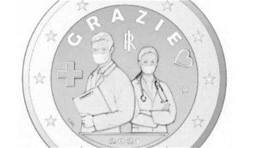 Una moneta da due euro per dire grazie agli eroi del Covid: medici e infermieri