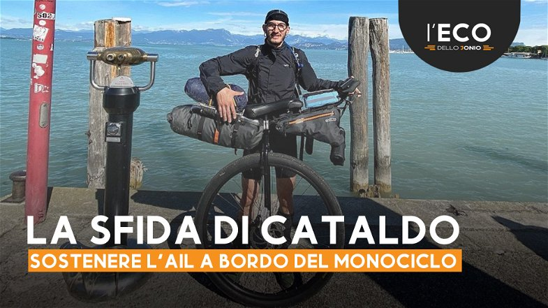 Da Bologna a Cariati sul monociclo per sostenere la lotta contro i linfomi