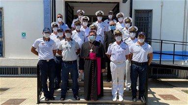 Visita pastorale di monsignor Aloise alla capitaneria di porto di Corigliano-Rossano