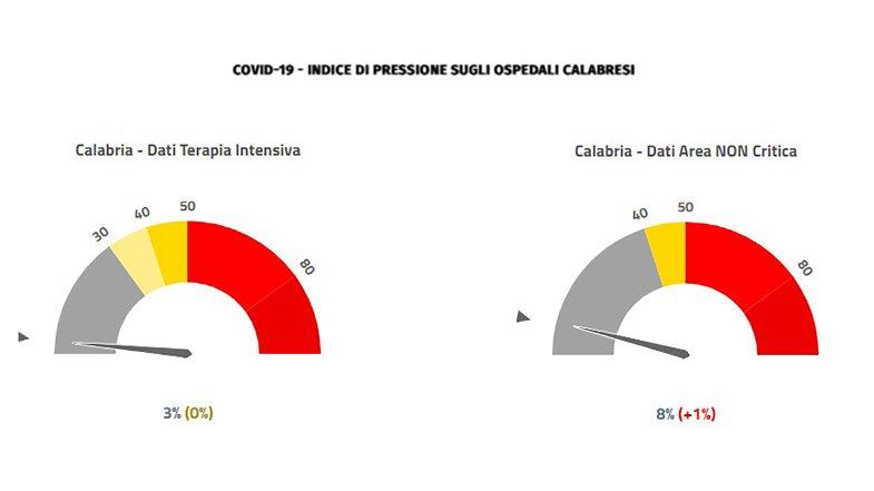 Emergenza covid, in Calabria stabili le terapie intensive. Una vittima nella provincia di Cosenza