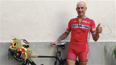 Silvio Giovane in 24 ore da Perugia a San Marco in bicicletta: impresa riuscita