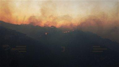 Incendio a Rossano, situazione altamente critica: il fuoco non è stato spento. Sarà una notte di pathos