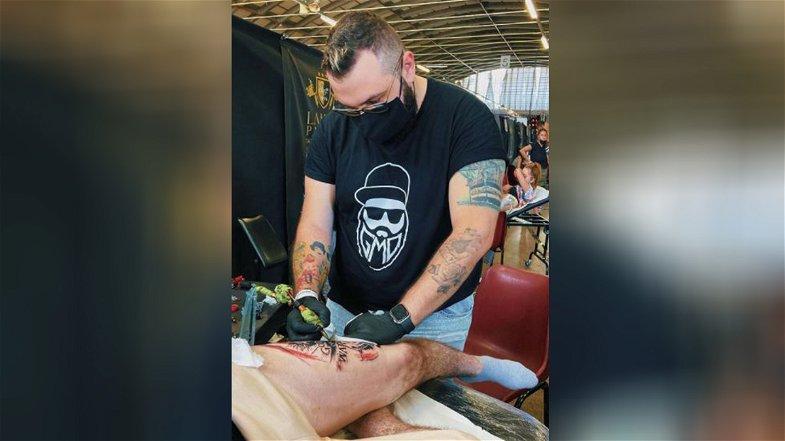 """È il cosentino Giovanni Maurizio De Rose il vincitore del premio """"Ti-Tattoo Convention"""""""