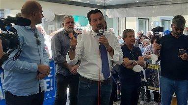 Matteo Salvini a Castrovillari : «Dalla Calabria mi porto tanta energia positiva» - VIDEO