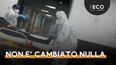 Pronto soccorso di Rossano in allarme rosso per nuovi casi covid e 4 ambulanze in fila
