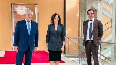 Occhiuto in Spagna incontra Ayuso: gettate le basi per relazioni tra la comunità madrilena e quella calabrese
