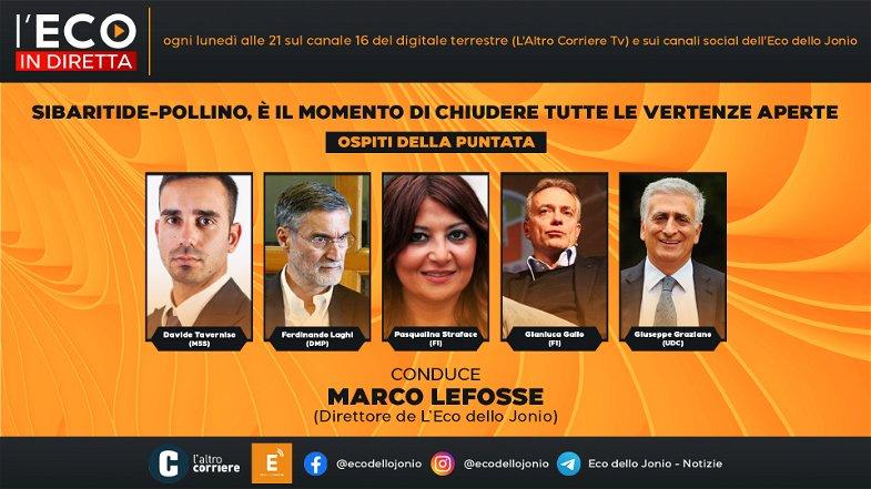 Sibaritide-Pollino, il momento è adesso: all'Eco in Diretta tutti i consiglieri regionali eletti nella Calabria del nord-est
