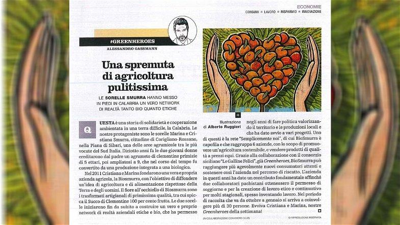 Agricoltura etica, Corigliano-Rossano protagonista sulle pagine di Repubblica grazie a Biosmurra