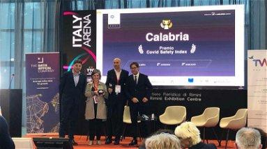"""""""Calabria straordinaria"""" il premio """"Covid Safety Index"""" va alla Regione"""